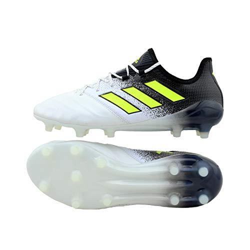 Ace Leder (adidas Ace 17.1 Leder FG Fussballschuhe Nocken Schuhe (10,5, Weiß))