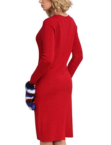 APART Fashion Damen Kleid Rot (Rot)