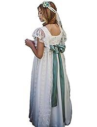 Auxico Vestidos de niña de encaje de encaje para bodas Vestido de fiesta de princesa de