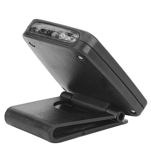 Tbest Scheinwerfer 5-LED Kappe Clip Kopf Lampe USB wiederaufladbare Scheinwerfer Infrarot Sensor Licht Clip-on Hut für die Jagd Camping Angeln Alle 2 Farben(Schwarz) -