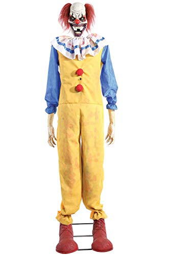 5ft Animated Twitching Clown Halloween Prop
