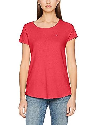 Hilfiger Denim Damen T-Shirt Thdw Basic SN Knit S/S 12, Rosa (Rose Red 667), X-Large