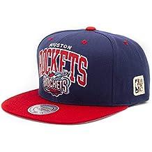 detailed look 56a79 cbbcb Mitchell   Ness Houston Rockets Team Arch Snapback NBA Cap 2.0
