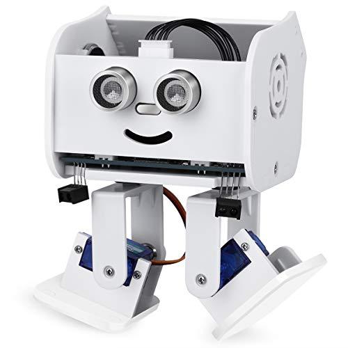 ELEGOO Roboter Penguin Bot Zweibeiniger Roboter Baukasten Kompatibel mit Arduino IDE, Mint Spielzeug mit Tutorial für Hobbybastler, STEM Toys für Kinder und Erwachsene V2.0(Weiß)