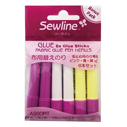 Sewline Tulip Straight Pins-Pink Tulip Head 15-Pack