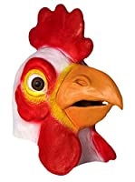 Látex de pollo gallo vestido de lujo para Halloween