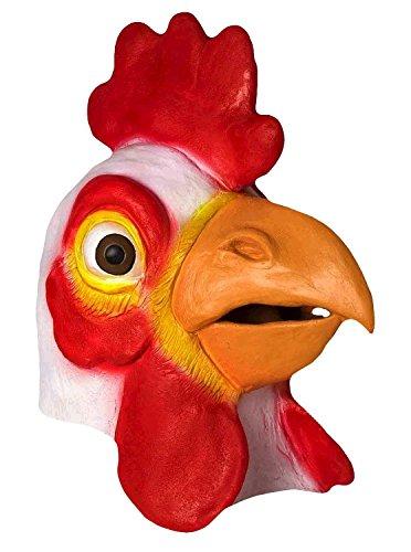 Latex Huhn-Hahn-Abendkleid für Halloween (Weiß)