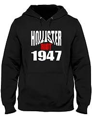 Sudadera con Capucha Hombre Negro OLDENG00523 Hollister Riot 1947
