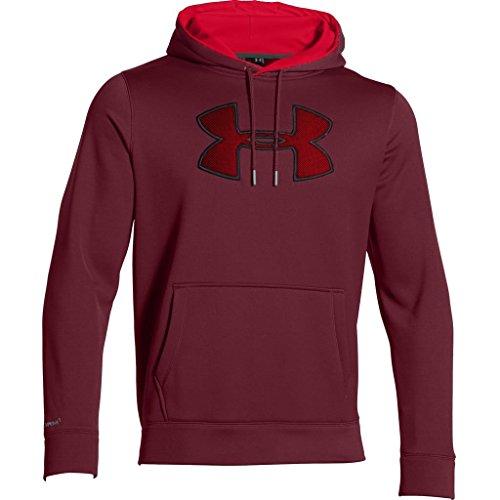Under Armour Herren Fitness Sweatshirt AF Big Logo Hoodie Solid Dpr/Red/Tst