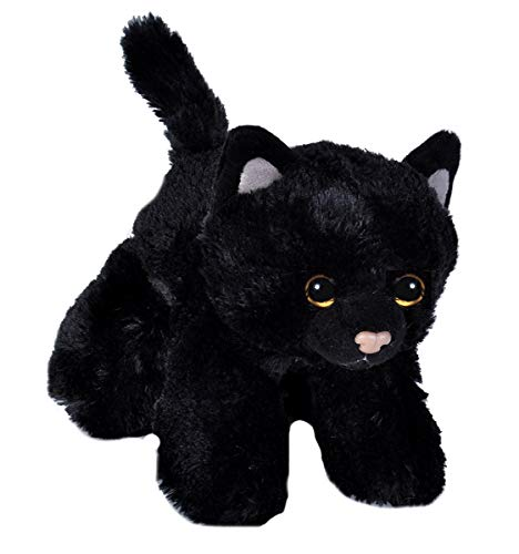 Wild Republic 18 cm Hug'ems Cat Plush Toy (Black)