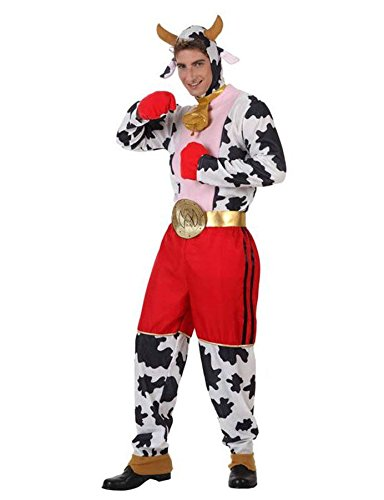 Imagen de disfraz de vaca boxeadora hombre
