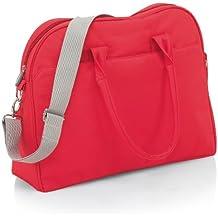 INGLESINA ax50e6lbs bolso cambiador, grandes compartimentos interiores, color rojo