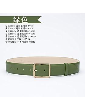 LONFENN Srta. Spring / Summer Pins Buttons Cinturones simples Commuter Leather Belts Decoración de las mujeres...