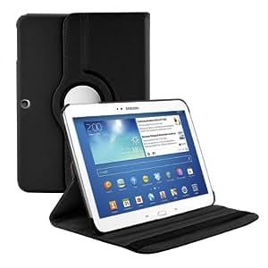 kwmobile Hülle 360° für Samsung Galaxy Tab 3 10.1 Case mit Ständer - Schutzhülle Tablet Tasche mit Standfunktion in Schwarz