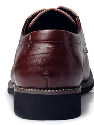 DADAWEN Homme Classique Commercial Leather Chaussure Bout Pointu Brun