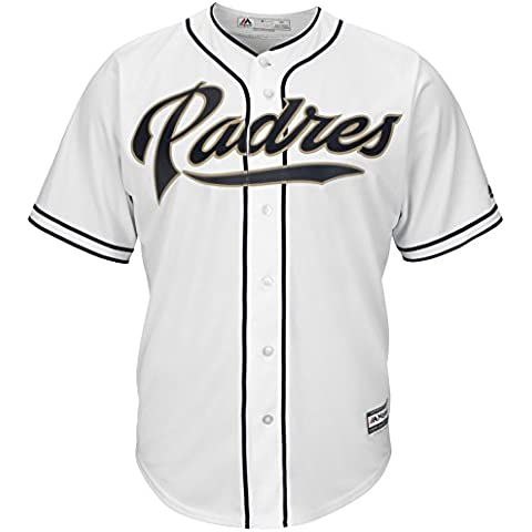 Majestic SAN DIEGO PADRES Cool Base MLB Home, bianco, XL