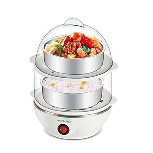 Glive's Multi-Function Double Layer 14 Eggs Electric Egg Boiler Cooker Food Steamer With Measuring Cup (Multicolor)