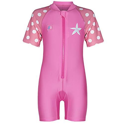 Juicy Bumbles UV Baby Badeanzug Mädchen UV Schutz - Einteiliger UV Schutzkleidung Baby - Kurzarm Sonnenanzug UPF50+ Seestern 6-12 Monate