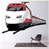 azutura Tren Moderno Vinilos Transporte Pegatina Decorativos Pared Chicos Dormitorio Decoración...