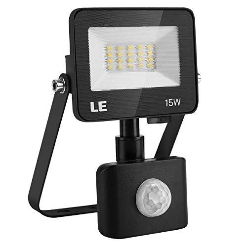 LE 15W Foco LED Exterior con Sensor Movimiento, 1500 lm, Foco LED...