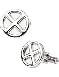 Marvel Comics Men's X-Men Logo Stainless Steel Cufflinks Stud Earrings, Silver, One Size