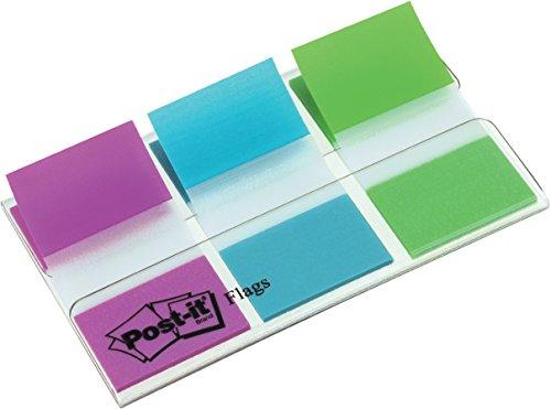 Post-it 680PBGEU Haftstreifen Index Standard (25,4 x 43,2 mm, 3 x 20 Haftstreifen im Etui) lila, blau, grün (Die Zoom-katalog)