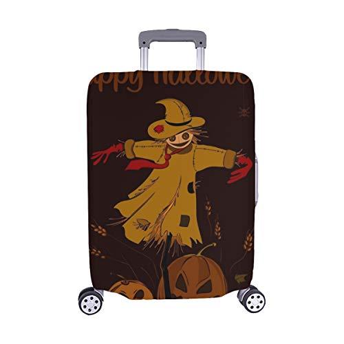 (Nur abdecken) Happy Halloween Vogelscheuche Stroh Kopf Hexe Staubschutz Trolley Protector case Reisegepäck Beschützer Koffer Abdeckung 28,5 X 20,5 Zoll