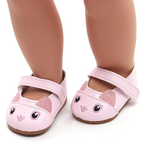 YUYOUG Doll Shoes Lovely Cartoon Sandals Shoes Fits 18 Inch Our Generation American Girl Doll Accessory Girls