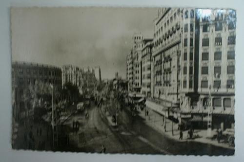 Antigua postal fotográfica. Old photo post card. Nº 165 - VALENCIA - Calle de Játiva