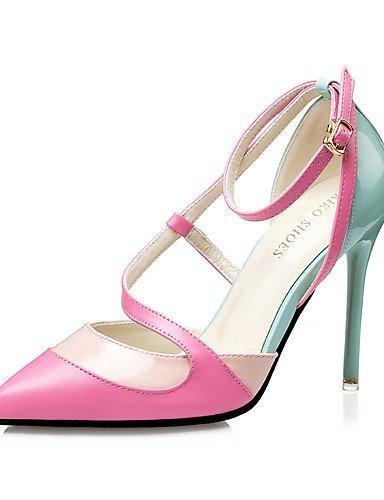WSS 2016 Chaussures Femme-Habillé-Noir / Bleu / Rose-Talon Aiguille-Talons / Bout Pointu / Bout Fermé-Talons-Similicuir pink-us6.5-7 / eu37 / uk4.5-5 / cn37
