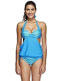 Femmes Vintage Maillots De Bain Backless Rassembler Triangle Monokini Bikini Slim Push Up Couvertures Sexy Voyage Vêtements De Plage Badeanzug,Blue-44
