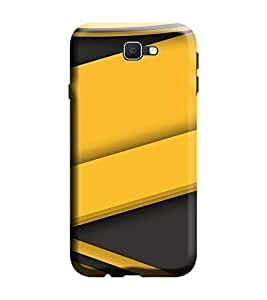 Gismo Samsung Galaxy A5 2017 Edition Cover / Samsung Galaxy A5 2017 Edition Back Cover / Samsung A5 2017 Edition Designer Printed Back Case - Grey yellow Pattern