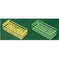 DUTSCHER 39189011 Portoir économique trous carrés en polystyrène usage unique pour 90 tubes ø 13 mm, coloris rouge