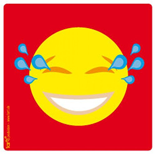 1art1® Emoticons Poster-Sticker Autocollant - Emoji Smiley Pleure De Rire (9 x 9 cm)