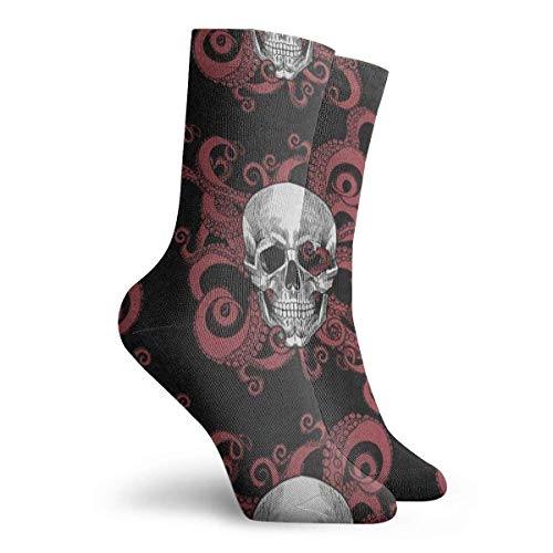 FunnyStar Socken Vintage Sugar Skull Octopus Kraken Halloween Cool Männer Frauen Stocking Gift Sock Clearance für Mädchen - Größe 39-45 - Size 6-11 (Halloween Mann Sugar Skull)