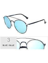 TIANLIANG04 Gafas De Sol Polarizadas Mujer Redonda Ojo De Gato Negro Vintage Gafas Gafas Gafas Uv400