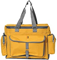 Vouch Bria Multipocket and Multipurpose Diaper Bag, Yellow