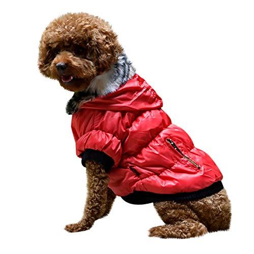 Fenverk Hundeweste Winter Mantel Warm Winddicht Jacke Bekleidung Kalt Wetter Zum Klein Mittel Groß Hunde Haustier Katze HüNdchen Kleidung KostüM(rot,XL)