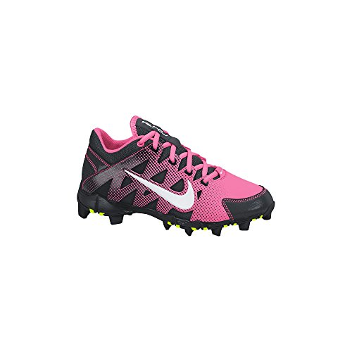 Nike Girl's Hyperdiamond Keystone GS Softball Cleat Digital Pink/Black/White Size 5.5 M US (Nike-softball-schuhe)