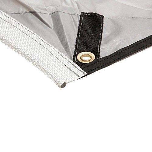 Sonnensegel für Wohnwagen & Wohnmobil grau 3,50 x 2,4 , für Kederleisten 7 mm,Wassersäule 2000 mm - 4