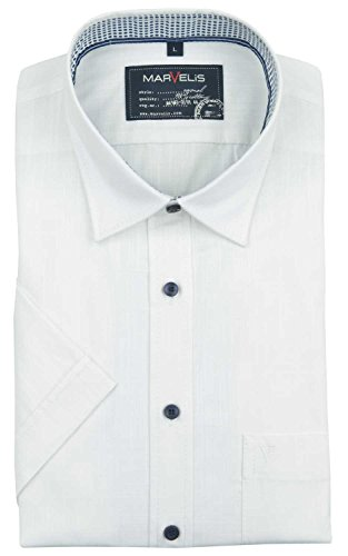 Marvelis Casual kurzarm Hemd weiß Weiß