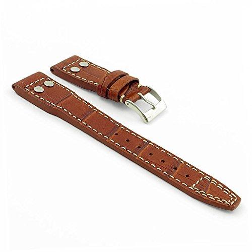 dassari-aviator-bande-de-rechange-cuir-style-croco-pour-iwc-big-pilot-brun-couture-contrastante-blan