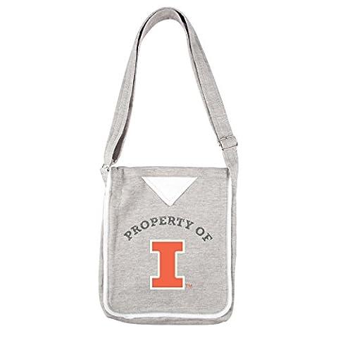 NCAA Illinois Illini Women's Hoodie Crossbody Handbags, 9.5 x 2.25 x 11.5-Inch, Gray