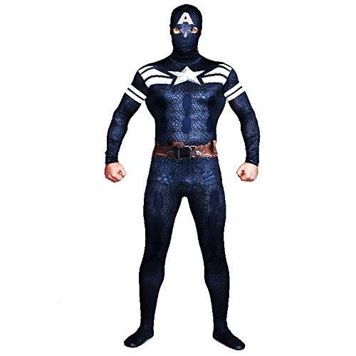 Hohe Elastische Superman Kleidung Spiel Kopfbedeckung Trennung Halloween Erwachsene Maske Cosplay Party Filmrequisiten Set,Black-M