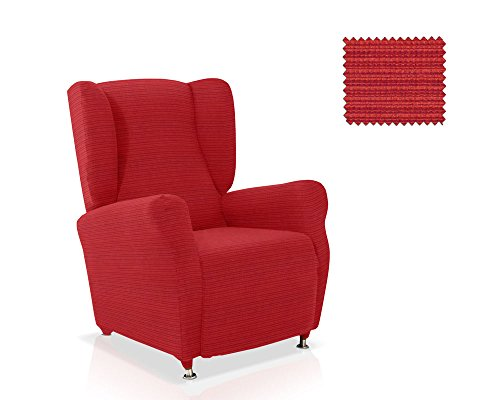 JM Textil Husse für Ohrensessele Vulcano Farbe Rot Standardgröss (mehrere Farben verfügbar)