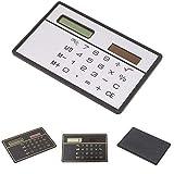 Energia solare carta di credito calcolatrice, calcolatrice tascabile a cifre, ultra sottile per scuola/ufficio/viaggio free size silver