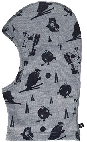 Odlo Kinder Originals Warm Kids Gesichtsmaske, Grey Melange/Diving Navy, One Size