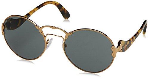 Prada Damen 0PR55TS 7OE9K1 57 Sonnenbrille, (Antique Gold/Grey)