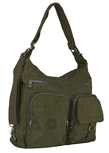 Big Handbag Shop - Borsa a tracolla unisex Olive Green