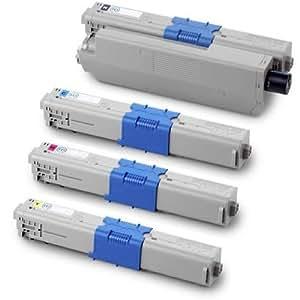 PerfectPrint Compatible Toner Cartridge Replacement for OKI C301DN C321DN MC332DN MC342DNW C301 C321 (Black/Cyan/Magenta/Yellow, 4-pack)